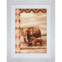 Cross Stitch Kit Elephants B2226