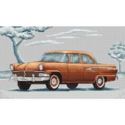 Cross Stitch Kit Retro cars B2234