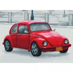 Cross Stitch Kit Retro cars B2235