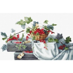 Cross stitch kit Red Currants B2262