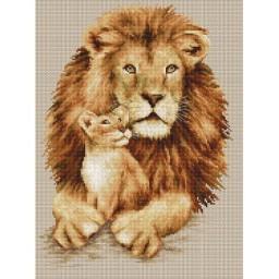 Cross stitch kit Lion B2290