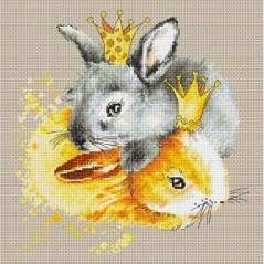 Cross Stitch Kit Bunnies B2299