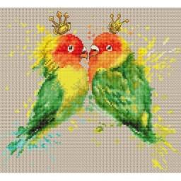 Cross stitch kit Parrots B2309
