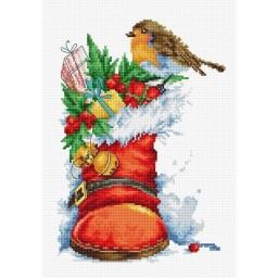 Cross Stitch Kit Christmas Boot B2310