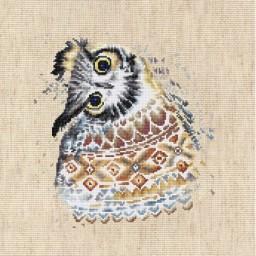 Cross stitch kit Owl B2311