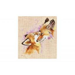 Cross Stitch Kit Foxes B2312