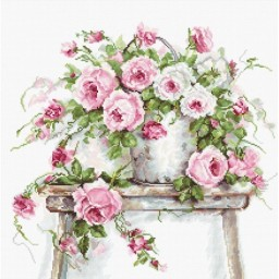 Cross stitch kit Flowers on a Stool B2331