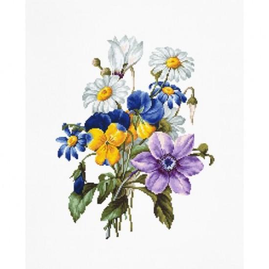 Cross Stitch Kit Bouquet Of Flowers B2348