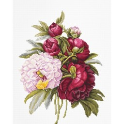 Cross stitch kit Bouquet With Peonies B2354
