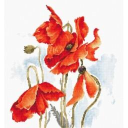 Cross stitch kit Poppies B2374