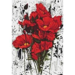 Cross stitch kit Poppies B2375