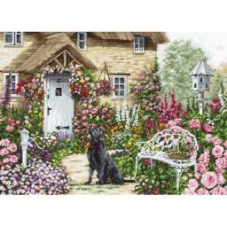 Cross stitch kit Cottage Garden B2377