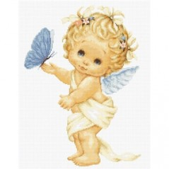 Cross Stitch Kit Butterfly and angel B368