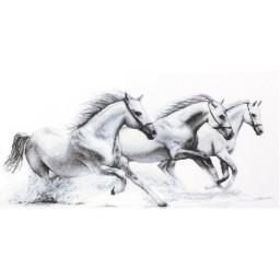 Cross stitch kit White horses B495