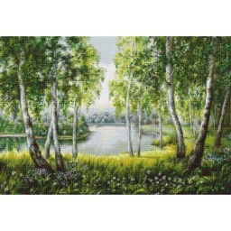 Cross Stitch Kit Birches in the Light B526