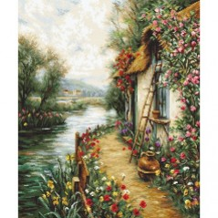 Cross stitch kit Along the River B581