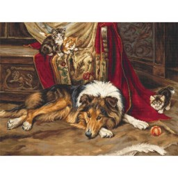 Cross Stitch Kit A Reluctant Playmate B585
