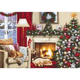 Cross stitch kit Christmas Interior B591