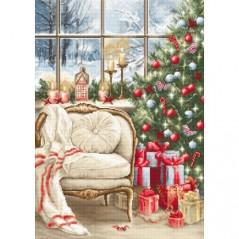 Cross stitch kit Christmas Interior Design B599