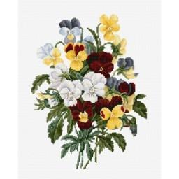 Cross stitch kit Bouquet of pansies BU4002