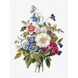 Cross stitch kit Bouquet of Summer Flowers BU4004