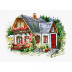 Cross stitch kit Beautiful Country House BU4005