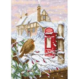 Cross stitch kit Red Mail Box BU4014