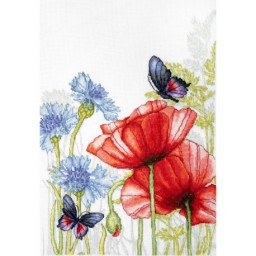Cross stitch kit Flowers and Butterflies BU4018