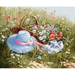 Cross stitch kit Meadow with Poppies BU4020