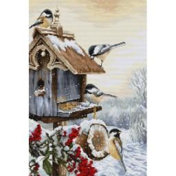 Cross stitch kit Bird House BU4021