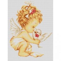 Gobelin kit Angel with Pigeon Petit point G369