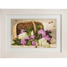 Gobelin kit Basket of Lilac G501