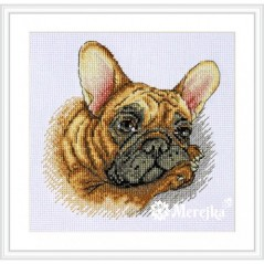Cross Stitch Kit French Bulldog K-114