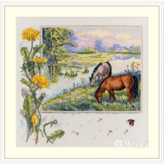 Cross Stitch Kit Horses K-139