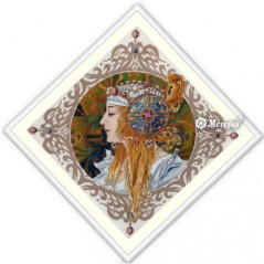 Cross Stitch Kit Blond after A.Mucha painting K141