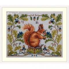 Cross Stitch Kit Little Squirrel K-146A