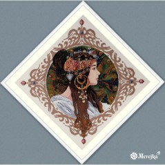 Cross Stitch Kit Brunette after A.Mucha painting K156