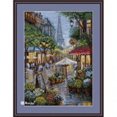 Cross Stitch Kit Rainy Paris K-162