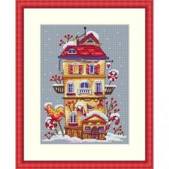 Cross Stitch Kit Winter House K-51
