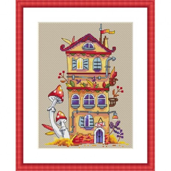 Cross Stitch Kit Autumn House K-54