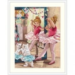 Cross Stitch Kit Ballet Dancers K-74