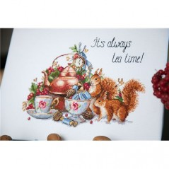 Cross stitch kit It's Always Tea Time K-85
