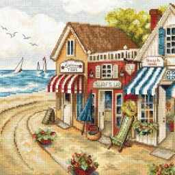 Cross stitch kit Shop by the sea LETI 905
