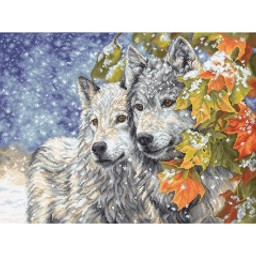 Cross stitch kit Early Snowfall LETI 913