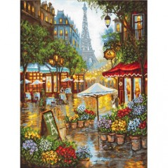 Cross stitch kit Spring flowers, Paris LETI 923