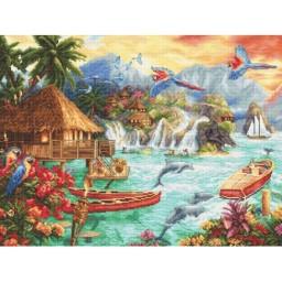 Cross stitch kit Island Life LETI 925