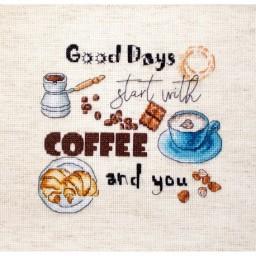 Cross Stitch Kit Coffee Time LETI 927