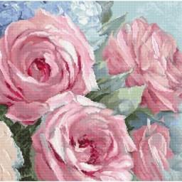 Cross Stitch Kit Pale Pink Roses LETI 928