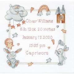 Cross stitch kit Baby Record LETI 934