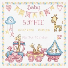 Cross Stitch Kit Baby Girl Record LETI 935